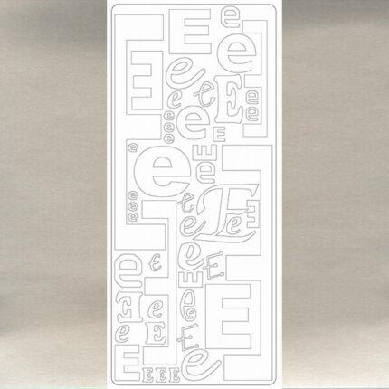 Kontúrmatrica - betű, E, ezüst, 0237  - AKCIÓS