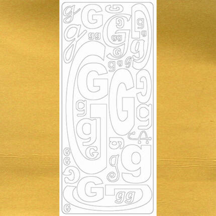 Kontúrmatrica - betű, G, arany, 0239  - AKCIÓS