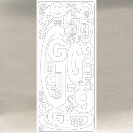Kontúrmatrica - betű, G, ezüst, 0239  - AKCIÓS