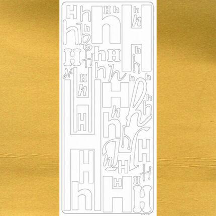 Kontúrmatrica - betű, H, arany, 0240  - AKCIÓS