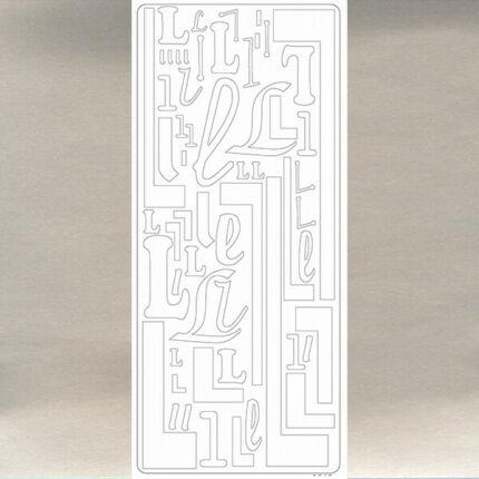 Kontúrmatrica - betű, L, ezüst, 0242  - AKCIÓS