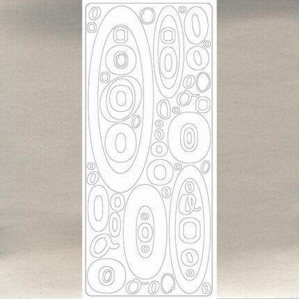 Kontúrmatrica - betű, O, ezüst, 0245  - AKCIÓS