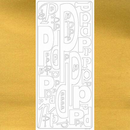 Kontúrmatrica - betű, P, arany, 0246  - AKCIÓS