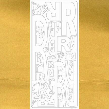 Kontúrmatrica - betű, R, arany, 0247  - AKCIÓS