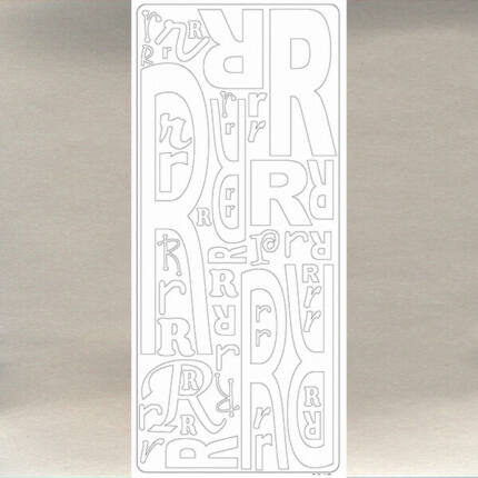 Kontúrmatrica - betű, R, ezüst, 0247  - AKCIÓS