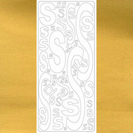 Kontúrmatrica - betű, S, arany, 0248  - AKCIÓS