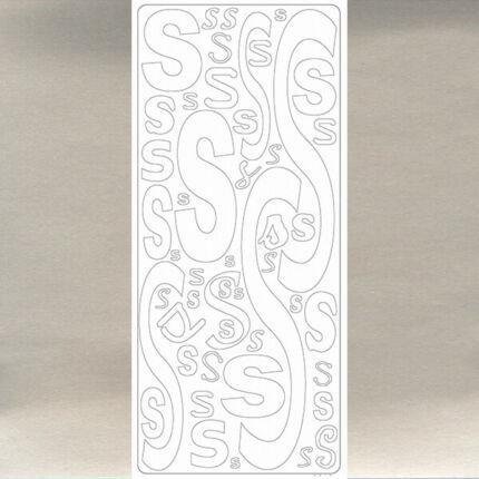 Kontúrmatrica - betű, S, ezüst, 0248  - AKCIÓS