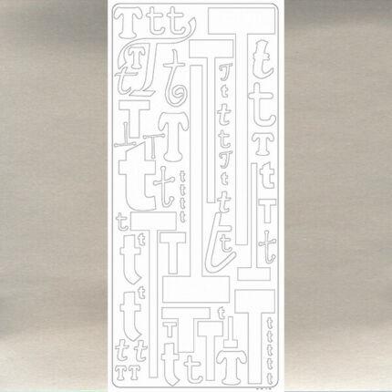 Kontúrmatrica - betű, T, ezüst, 0249  - AKCIÓS