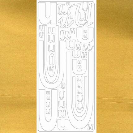 Kontúrmatrica - betű, U, arany, 0250  - AKCIÓS
