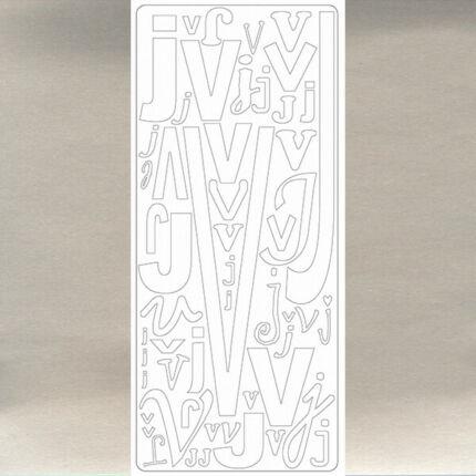 Kontúrmatrica - betű, VJ, ezüst, 0265  - AKCIÓS