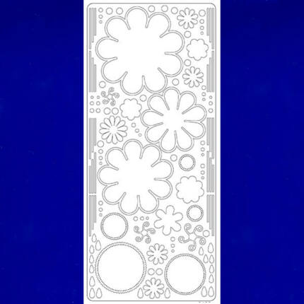 Kontúrmatrica - virág, 3D, sötétkék, 0400  - AKCIÓS