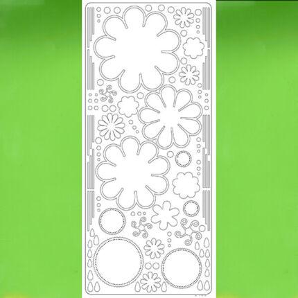 Kontúrmatrica - virág, 3D, világoszöld, 0400  - AKCIÓS