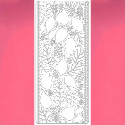 Kontúrmatrica - 3D levelek, rózsaszín, 0425  - AKCIÓS