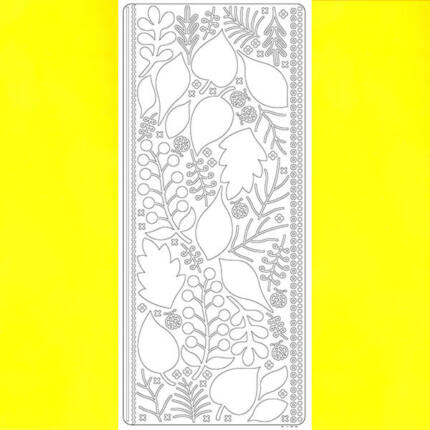 Kontúrmatrica - 3D levelek, sárga, 0425  - AKCIÓS