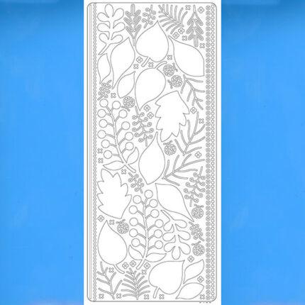 Kontúrmatrica - 3D levelek, világoskék, 0425  - AKCIÓS