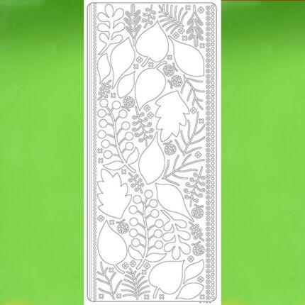 Kontúrmatrica - levelek, 3D, világoszöld, 0425  - AKCIÓS