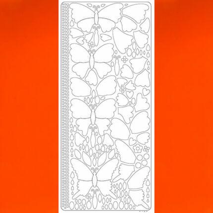 Kontúrmatrica - 3D pillangók, narancs, 0426  - AKCIÓS