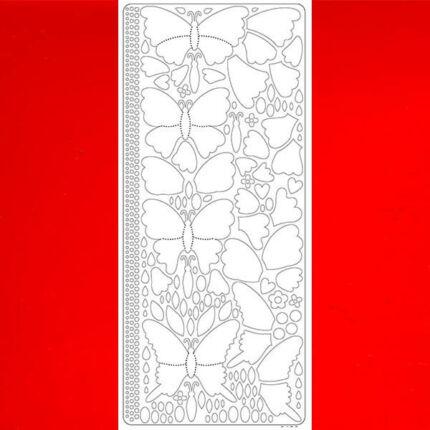 Kontúrmatrica - 3D pillangók, piros, 0426  - AKCIÓS