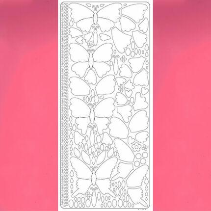 Kontúrmatrica - 3D pillangók, rózsaszín, 0426  - AKCIÓS