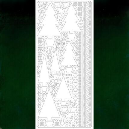 Kontúrmatrica - fenyőfák, sötétzöld, 0435 - AKCIÓS