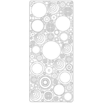 Kontúrmatrica - retró körök, fehér, 0495  - AKCIÓS