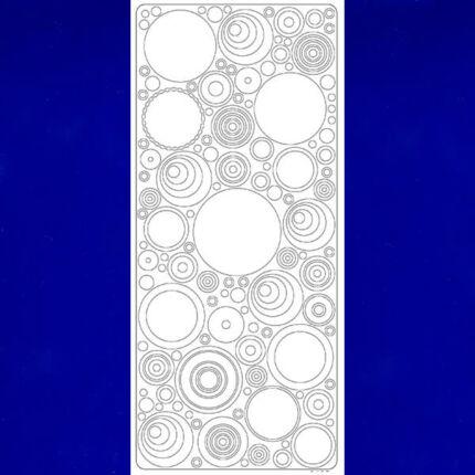 Kontúrmatrica - retró körök, sötétkék, 0495  - AKCIÓS