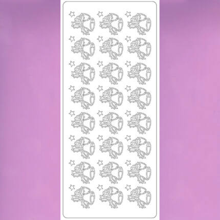 Kontúrmatrica - mini harangok, világoslila, 1607 - AKCIÓS
