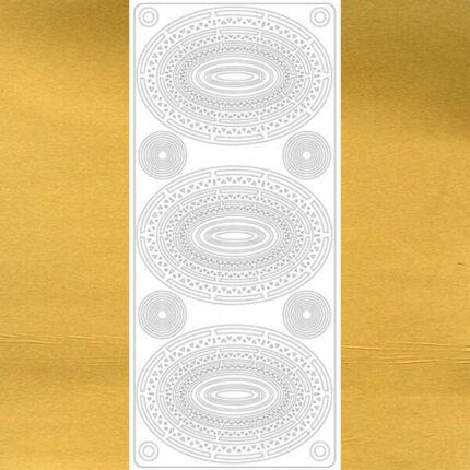 Kontúrmatrica - ovális díszek, arany, 1761  - AKCIÓS