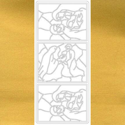 Kontúrmatrica - szent család, arany, 1784 - AKCiÓS