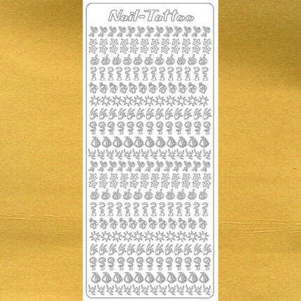 Kontúrmatrica - műköröm matrica, arany, 1806  - AKCIÓS