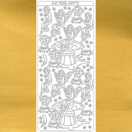 Kontúrmatrica - gombatündér, arany, 2078 - AKCIÓS