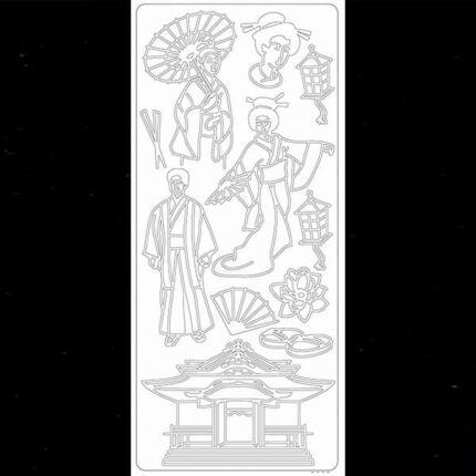 Kontúrmatrica - japán öltözet, fekete, 2295  - AKCIÓS