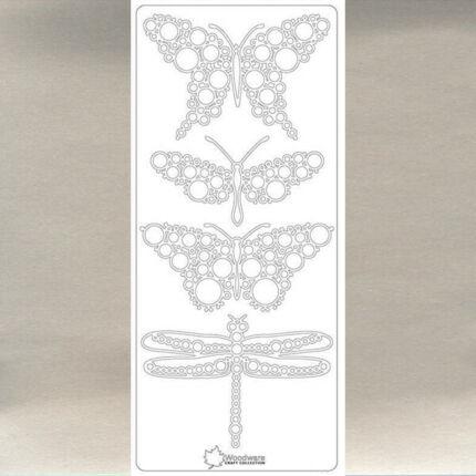 Kontúrmatrica - pillangó Jane, ezüst, 4100  - AKCIÓS