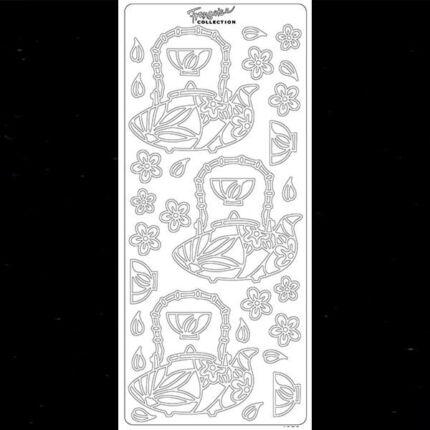 Kontúrmatrica - teáskanna, fekete, 4279  - AKCIÓS