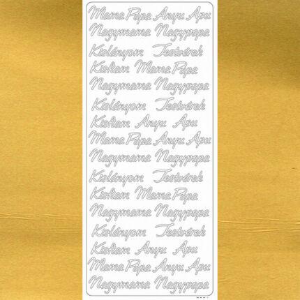 Kontúrmatrica - család, arany, 7921  - AKCIÓS