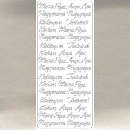 Kontúrmatrica - család, ezüst, 7921  - AKCIÓS
