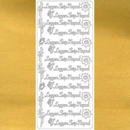 Kontúrmatrica - legyen szép napod, arany, 7927  - AKCIÓS