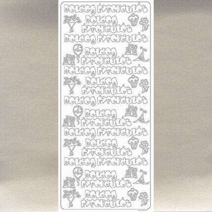 Kontúrmatrica - boldog évfordulót, ezüst, 7928  - AKCIÓS