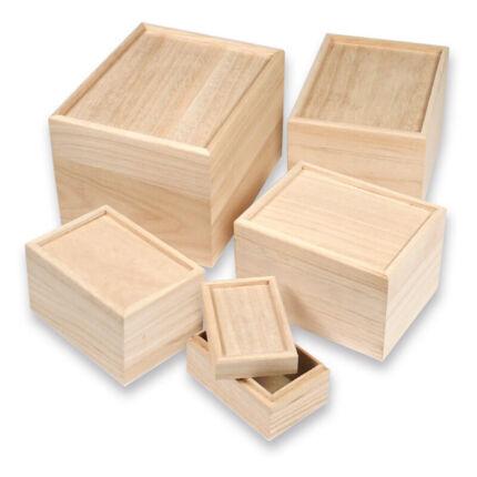 Fa dobozkészlet - 5 db-os mozaikozható 21x17x14/.../11x7x6 cm
