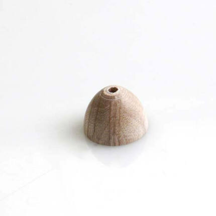 Félgömb alakú üreges fagyöngy - 14x10,5 mm