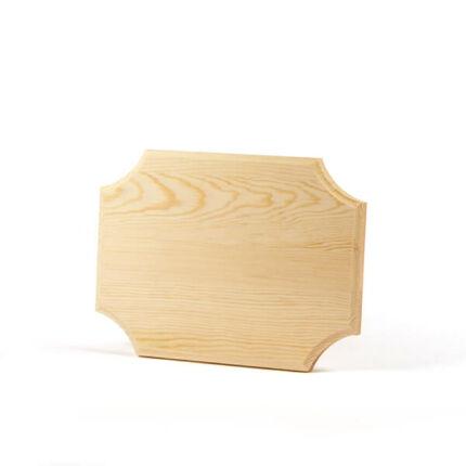 Falap, téglalap, ívelt sarokkal - 22x16,5x1,2 cm