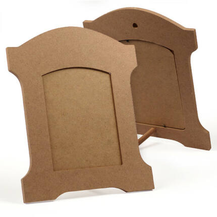 MDF képkeret - boltíves, íves, akasztható, állítható, 22x27 cm