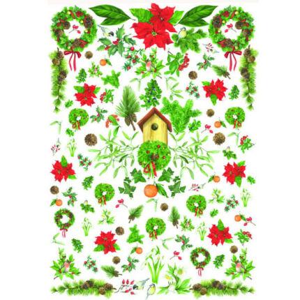 Esprimo decoupage papír - karácsonyi koszorúk