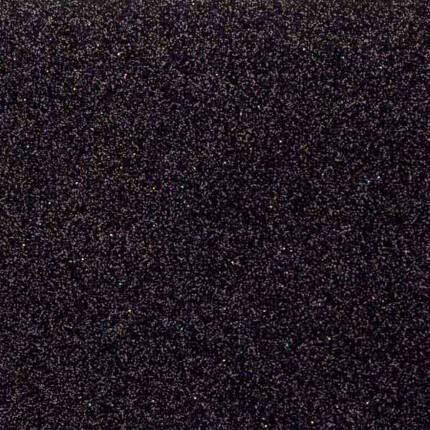Dekorgumi - csillámos fekete