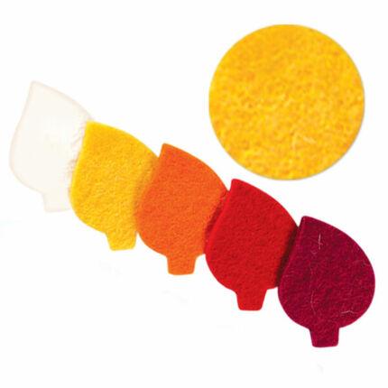 Filc forma, lapos - levél, sárga, darabra