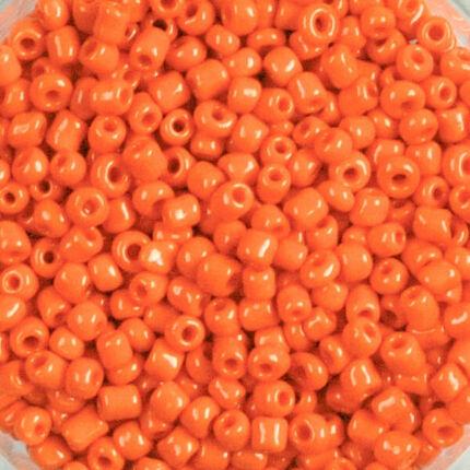 Teli színű kásagyöngy, 2 mm - narancssárga