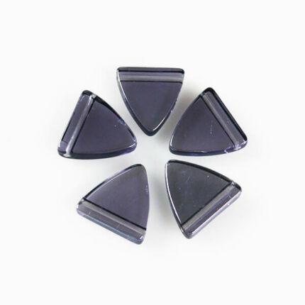 Üveggyöngy Yingli - pajzsgyöngy, lila, 5 db