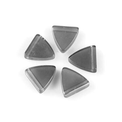 Üveggyöngy Yingli - pajzsgyöngy, szürke, 5 db