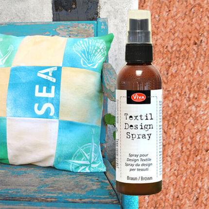 Textil design spray, pumpás, 100 ml - barna