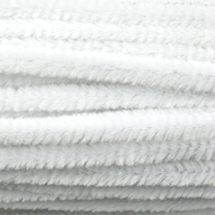Zsenília, 30 cm - fehér